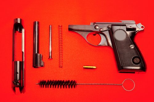 cleaning your hand gun